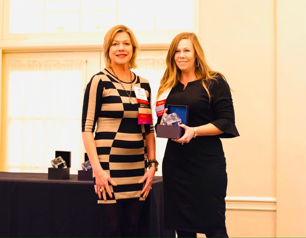 Pictured above: (left) Sallie Jarosz, Immediate Past President at Commercial Real Estate Women (CREW); (right) Dianne Jones, Sr. Manager of Client Services at Maxis Advisors